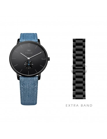 FIRAYS Women's Watches | Sapphire Glass | Surgical Grade Stainless Steel | Denim Strap | Japanese Quartz Movement | 38mm