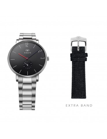 FIRAYS Men's Watches | Sapphire Glass | Surgical Grade Stainless Steel | Denim Strap | Japanese Quartz Movement | 42mm