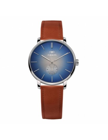 FIRAYS Men's Watches | Sapphire Glass | Surgical Grade Stainless Steel | Top Grain Calf Leather Strap | Japanese Quartz Movement | 42mm